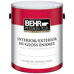 gloss paint behr premium plus 1 gal ultra pure white hi gloss enamel interior exterior paint 805001 the