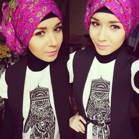 tutorial hijab nabila zirus nabila hijab pinterest