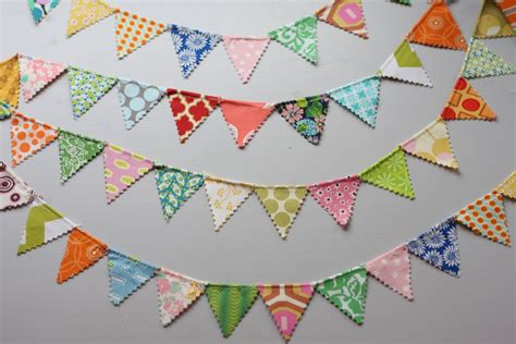 pattern for fabric garland christie chase 295 mini pennant flag garland