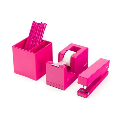 Pink Office Desk Accessories Pink Starter Set Beautiful Office Supplies