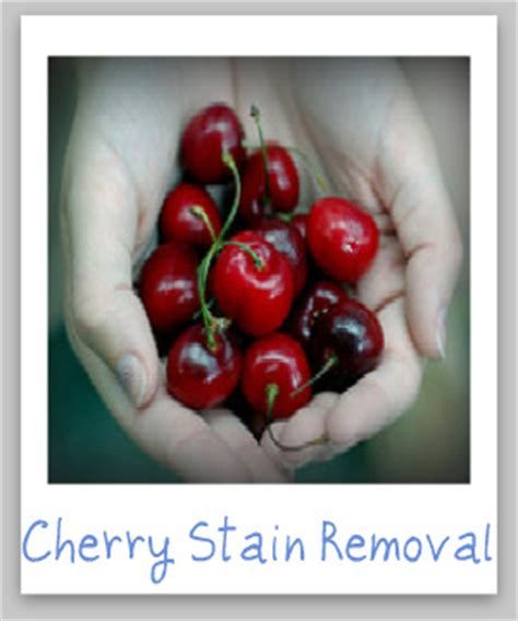 how to remove cherry stains including black cherry juice
