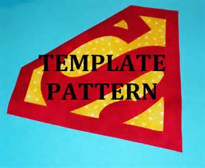 applique pdf template pattern only superman logo new
