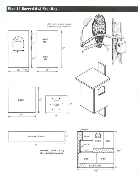 great horned owl house plans owl house plans birdhouse and nest box plans for several bird species the great