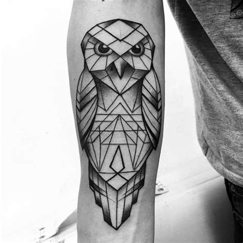 80 geometric owl designs for shape ink ideas
