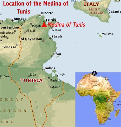 medina on world map medina of tunis tunisia world heritage