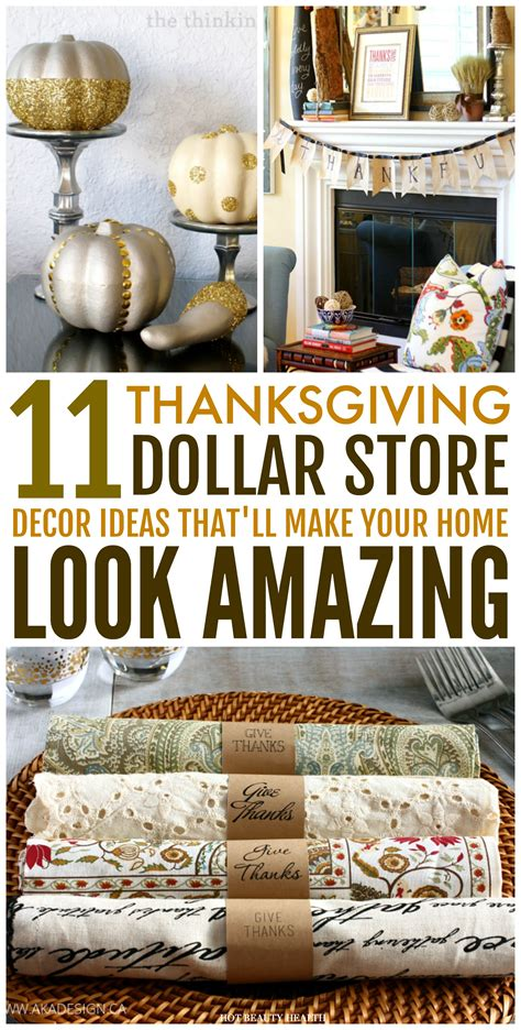11 dollar store thanksgiving decor ideas that are