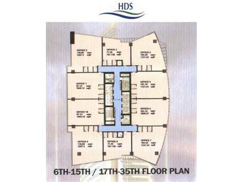 Apartments Floor Plans by Hds Tower Floor Plans Jlt