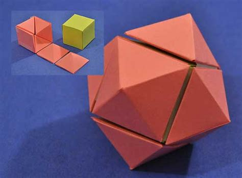 rhombic dodecahedron origami hinged dissections the nature of mathematics in 3d