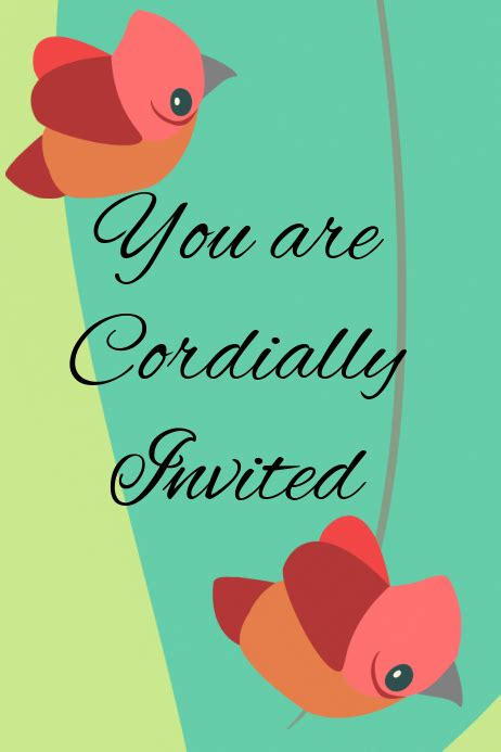 cordially invited template postermywall