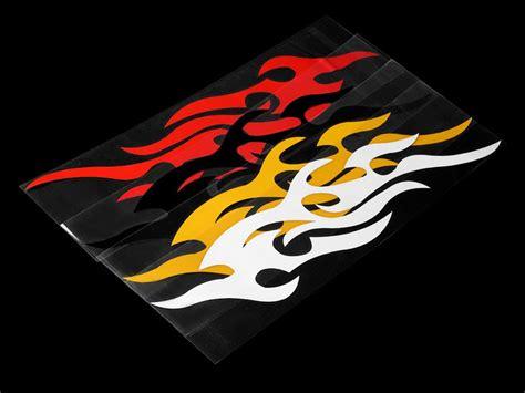 3d Flammen Aufkleber by 2 St 252 Ck Deko 3d Aufkleber Flammen Mit Gratis Versand