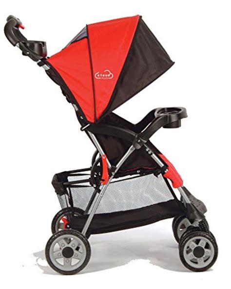 reclining lightweight stroller kolcraft cloud plus lightweight stroller with 5 point