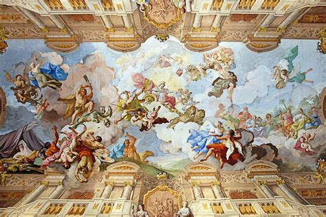 Painting On Ceiling by File Ceiling Painting Of The Marble Melk Austria Jpg Wikimedia Commons