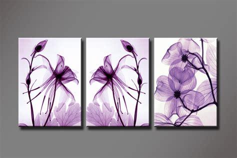 purple printable wall art aliexpress com buy x ray purple flowers 3 panels set hd