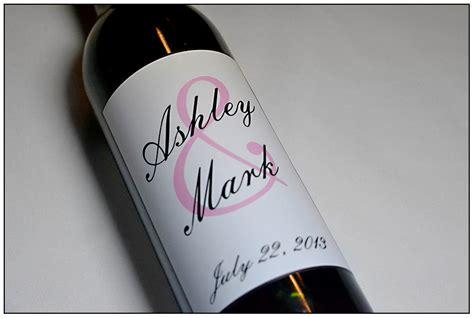 custom wedding wine label personalized by classicweddingdesign