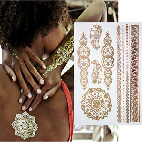gold body tattoo jewelry sleeve jewelry reviews online shopping sleeve jewelry