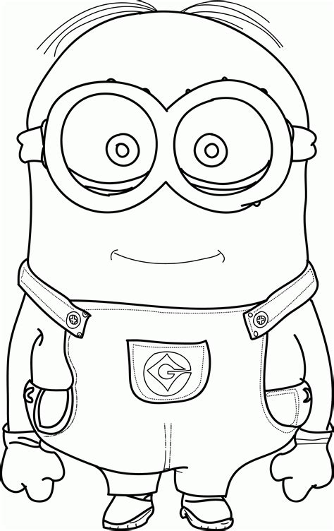 coloring page of a minion minions coloring pages bob coloring home