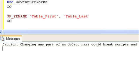 Sql Server How To Rename A Column Name Or Table Name Change Table Name In Sql