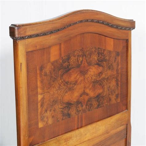 1920s italian art deco bedroom set in walnut and burl 1920s antique italian art nouveau single beds in walnut