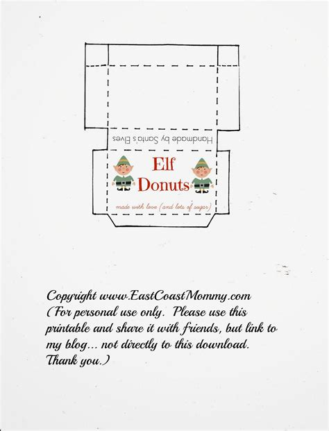 elf on the shelf donut printable east coast mommy elf on the shelf donuts free
