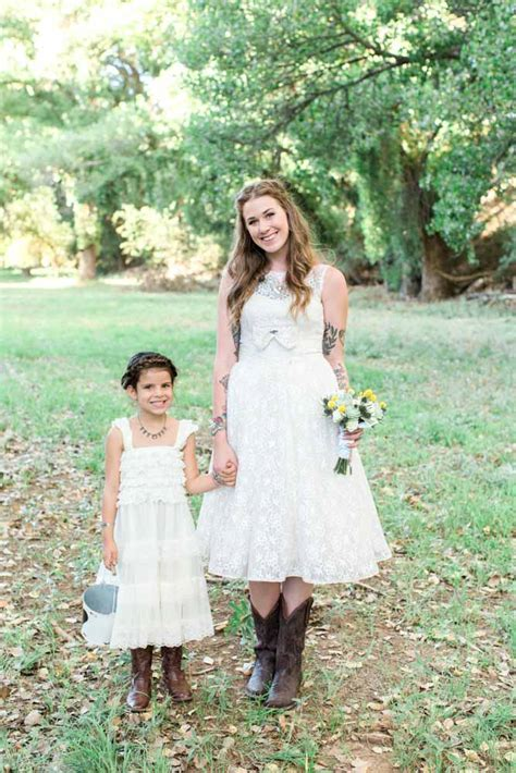 Wedding Dresses With Boots by Redesigned Vintage Wedding Dress For Rustic Country