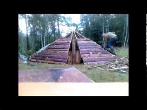build an a frame how to build a sauna in the ground part 1 youtube