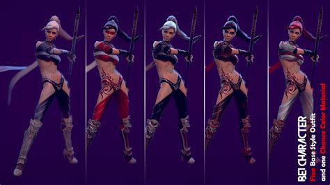 fortnite costumes bei character by quang phan in characters ue4 marketplace