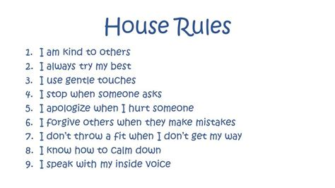 Tiny House For Family Of 4 by House Rules To Love Honor And Disobey Grounded Parents
