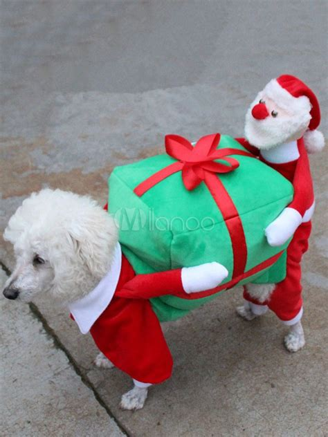 costume carrying box pet clothes santa claus carrying gif box costume fancy beds and costumes