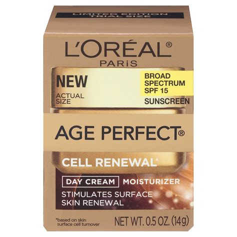 L Oreal Day compare palm loreal age cell renewal