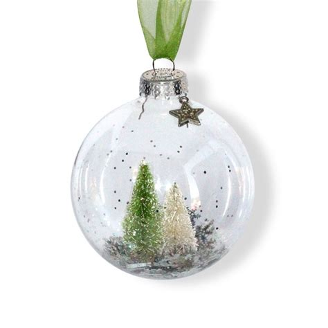 bottle brush trees christmas ornament make this in our