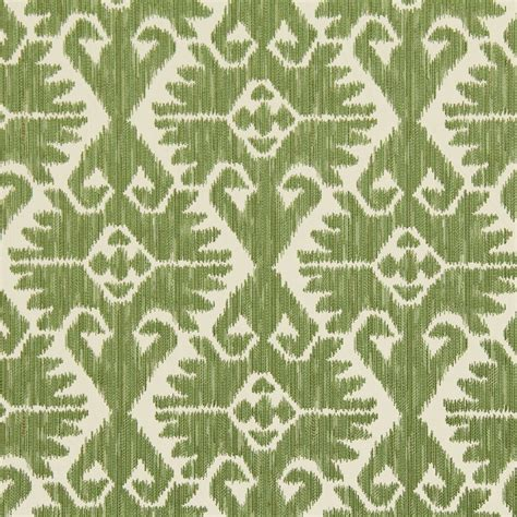 ikat upholstery leaf green ikat upholstery fabric heavyweight woven ikat for