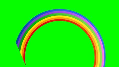 Rainbow Green the rainbow appearing green screen hdgreenstudio footage