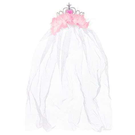 braut krone jga krone mit schleier rosa hier online kaufen