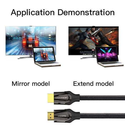 Vention Aac 0 75m Kabel Hdmi To vention hdmi cable 2 0 3m 5m hdmi to hdmi 4k 3d 60fps gold plated cable for hd tv lcd