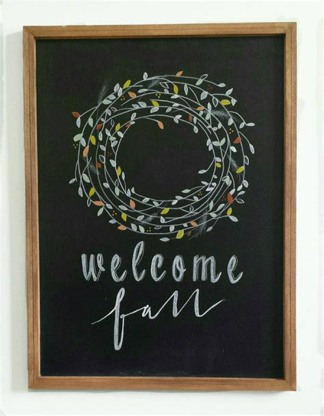 decorative chalkboard for home welcome fall decorative chalkboard home decor by deerandthyme