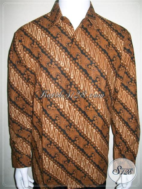 Batik Cap Laki Laki Lengan Panjang pusat busana batik pria lengan panjang baju batik motif
