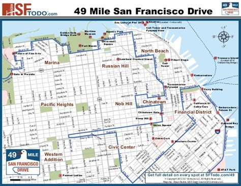 san francisco map marina district san francisco s 49 mile drive map