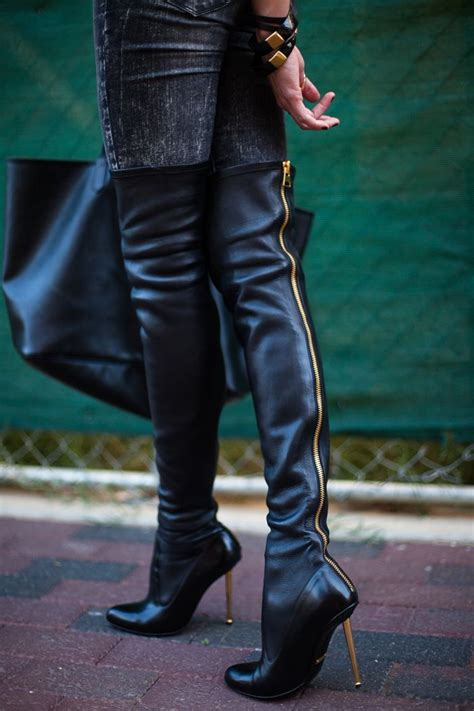 tom ford thigh high boots shoes