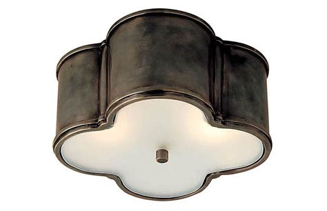 visual comfort basil flush mount basil flush mount gunmetal visual comfort co