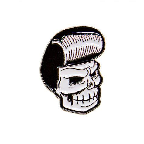 Pomade Skull suavecito mascot pin suavecito