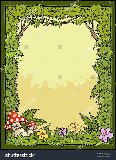 Tropical Plants Book - story book forest border background stock vector 30250855 shutterstock
