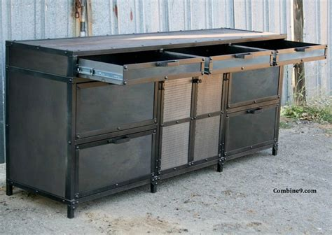 Vintage Industrial File Cabinet. Mid Century Modern. Steel