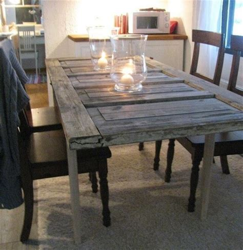 turning an old door into a dining room table dining table turn door into dining table