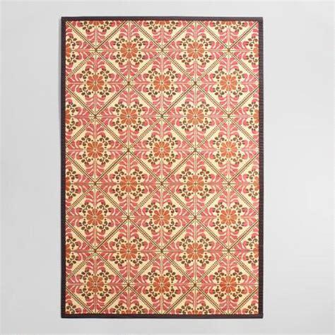 bamboo rugs world market 4 x6 and orange floral bamboo area rug world market