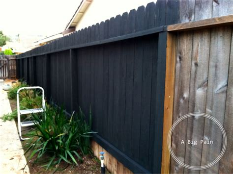 dark fence stain     work  staining