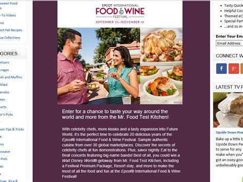 Mr Sweepstakes - mr food test kitchen 2015 food wine festival sweepstakes