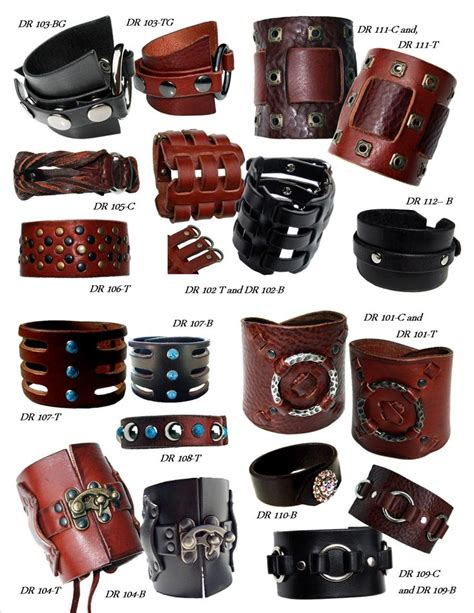 Handmade Leather Cuffs - best handmade leather ideas on