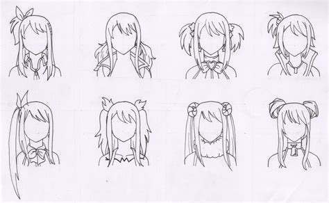 fairy taile updos elmhurst the many hairstyles of lucy heartfilia by purple dragon57