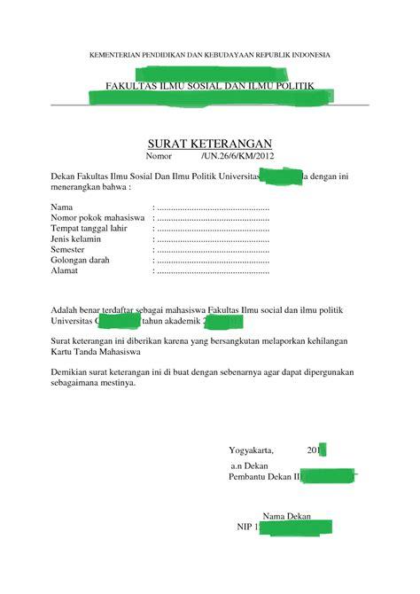 contoh surat pernyataan kehilangan kartu askes kumpulan