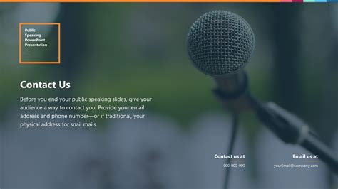 Sleek Public Speaking Premium Powerpoint Template Slidestore Speaking Powerpoint Template